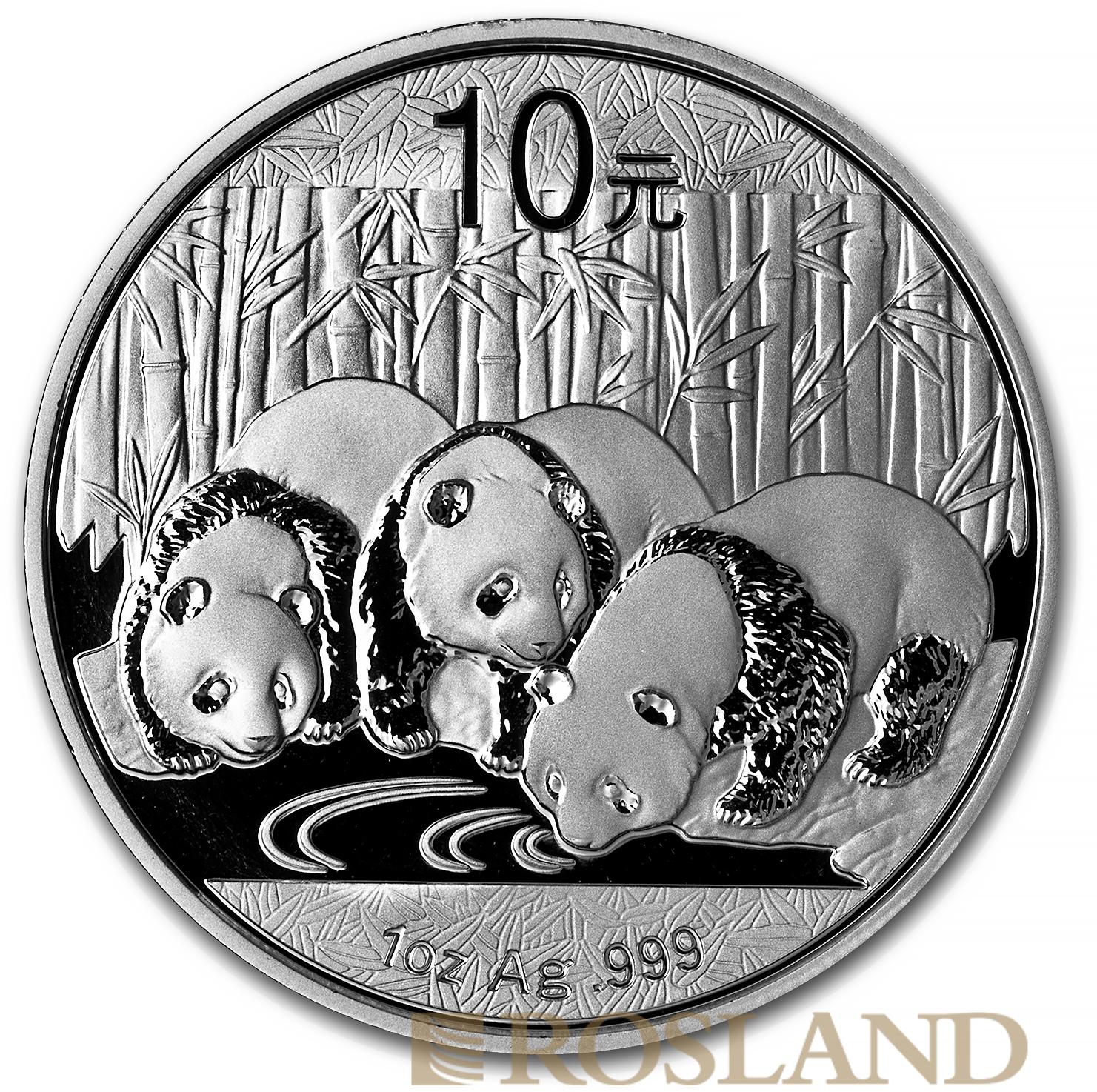 1 Unze Silbermünze China Panda 2013