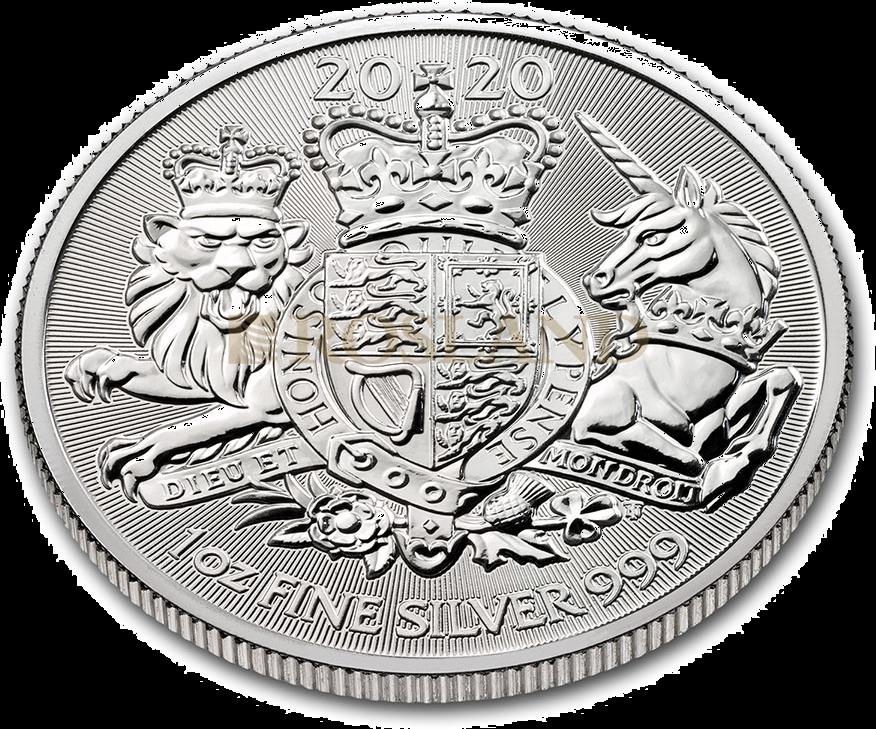 1 Unze Silbermünze Great Britain The Royal Arms 2020