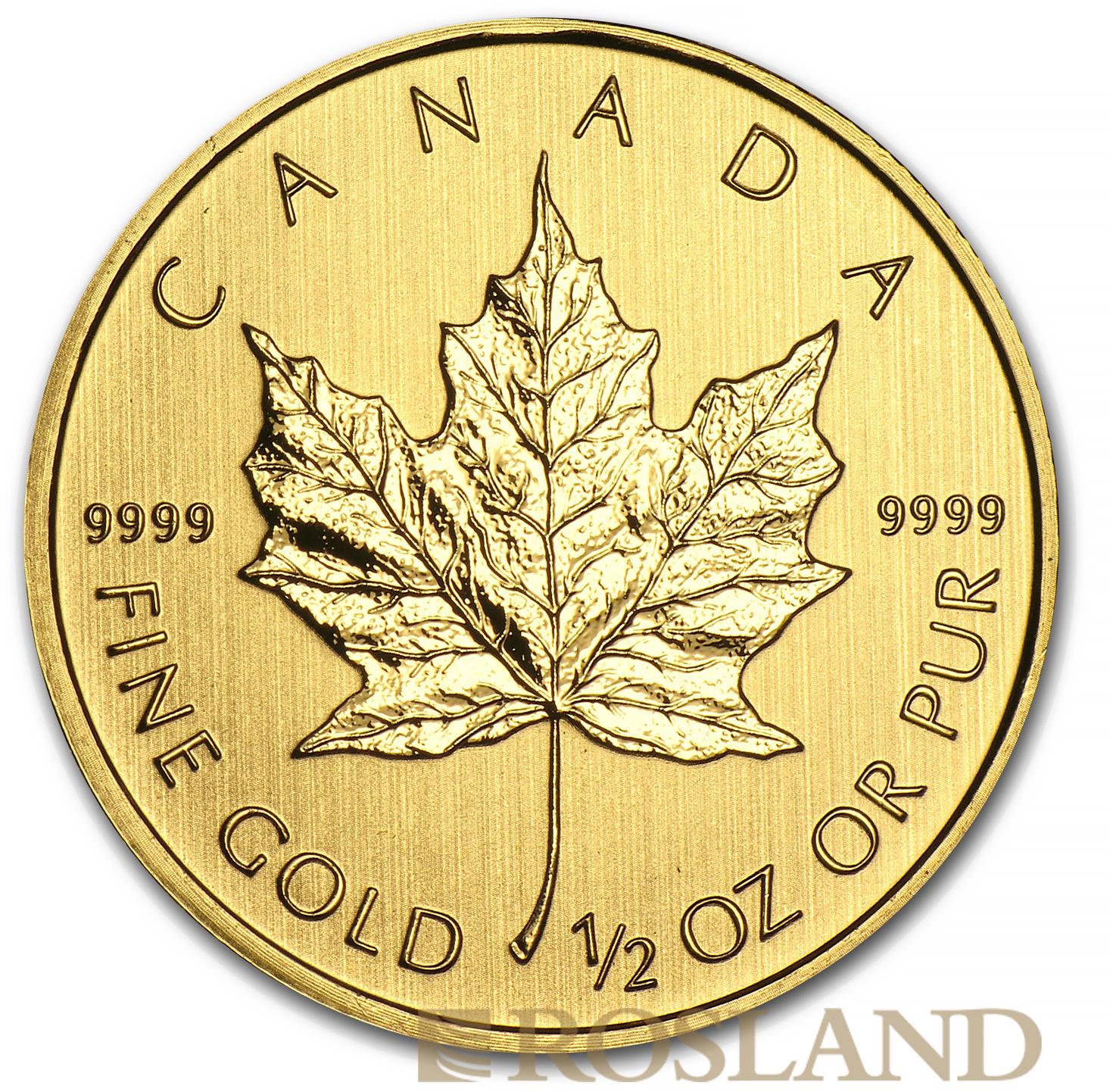 1/2 Unze Goldmünze Kanada Maple Leaf 2012
