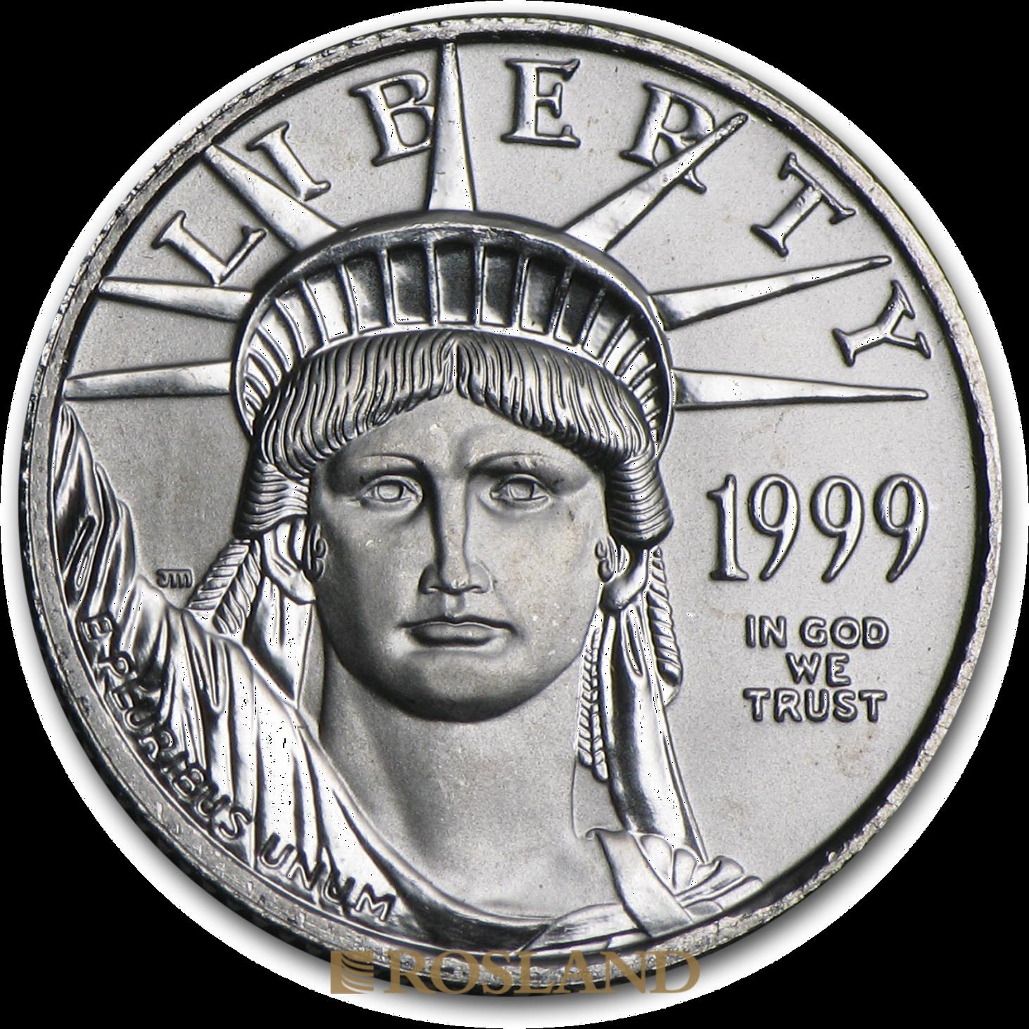1/10 Unze Platinmünze American Eagle 1999