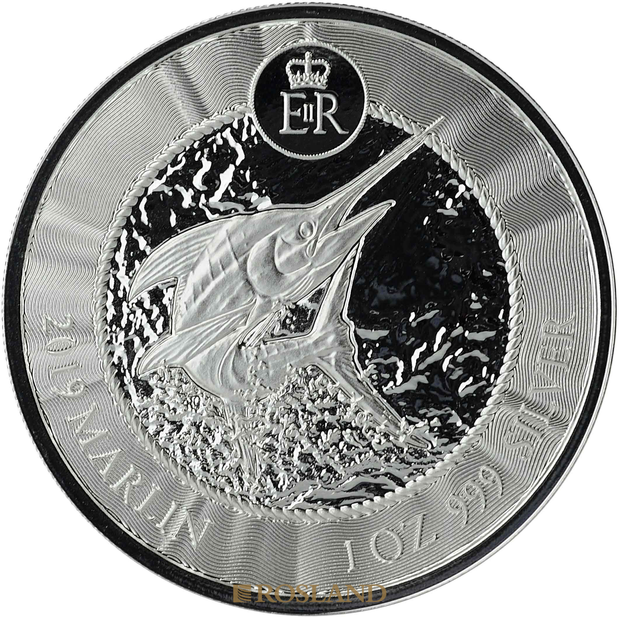 1 Unze Silbermünze Cayman Islands Marlin (Sperrfisch) 2019