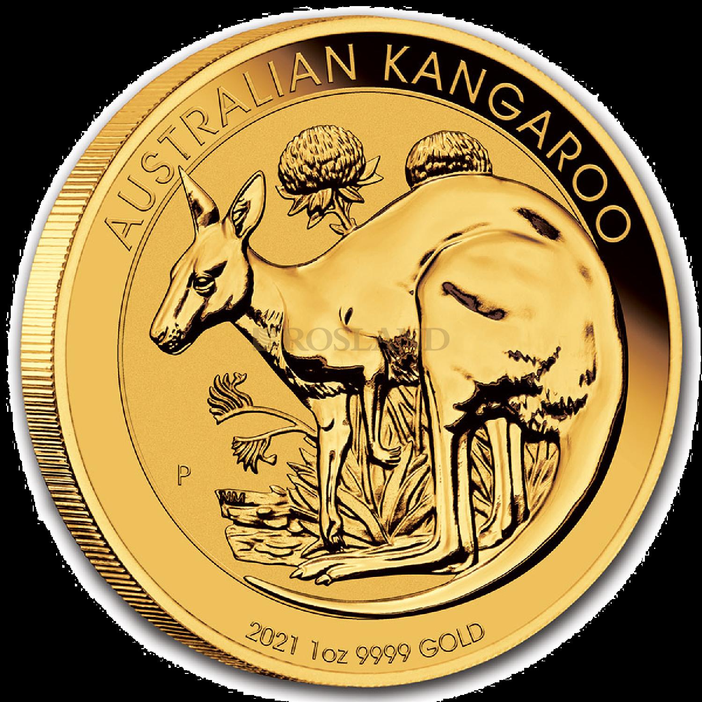 1 Unze Goldmünze Australien Känguru 2021