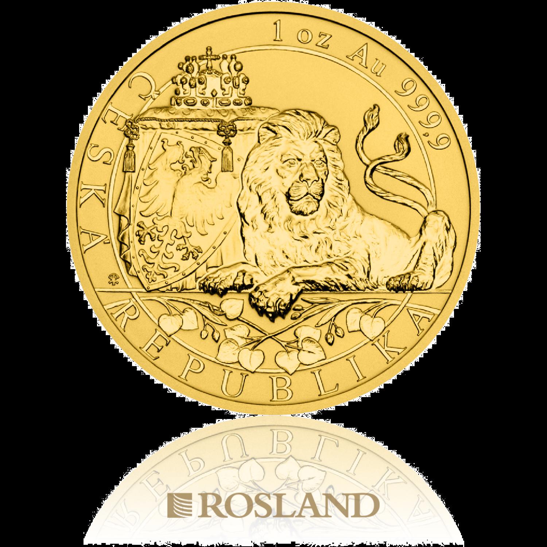 1 Unze Goldmünze Tschechischer Löwe 2019 PP (Reverse Proof)