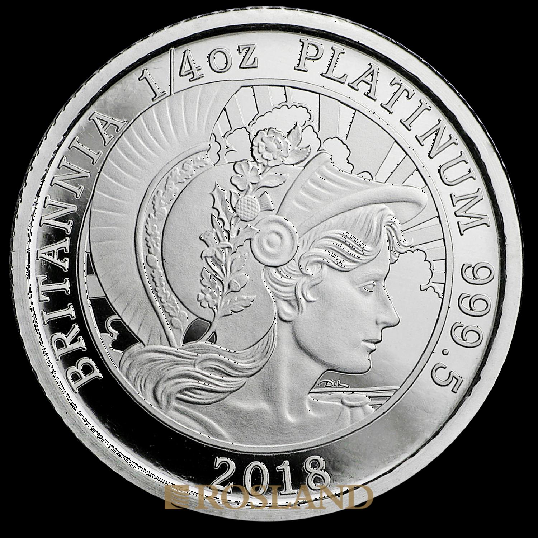 1/4 Unze Platinmünze Britannia 2018 PP (Box, Zertifikat)