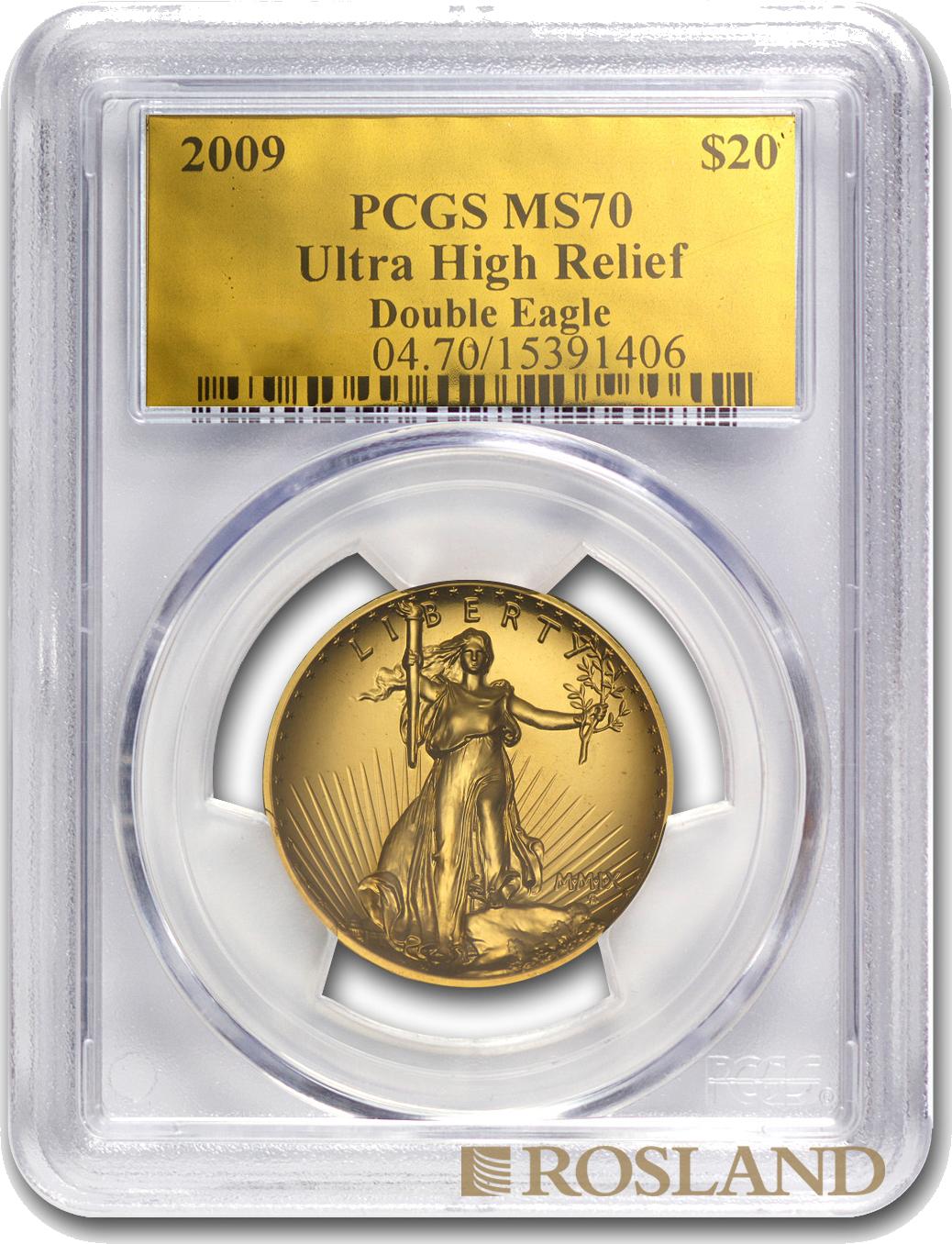 1 Unze Goldmünze American Eagle 2009 PCGS MS-70 HR Goldlabel