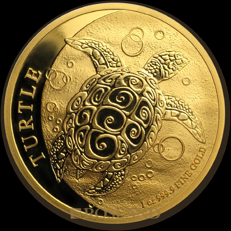 1 Unze Goldmünze Hawksbill Schildkröte 2018