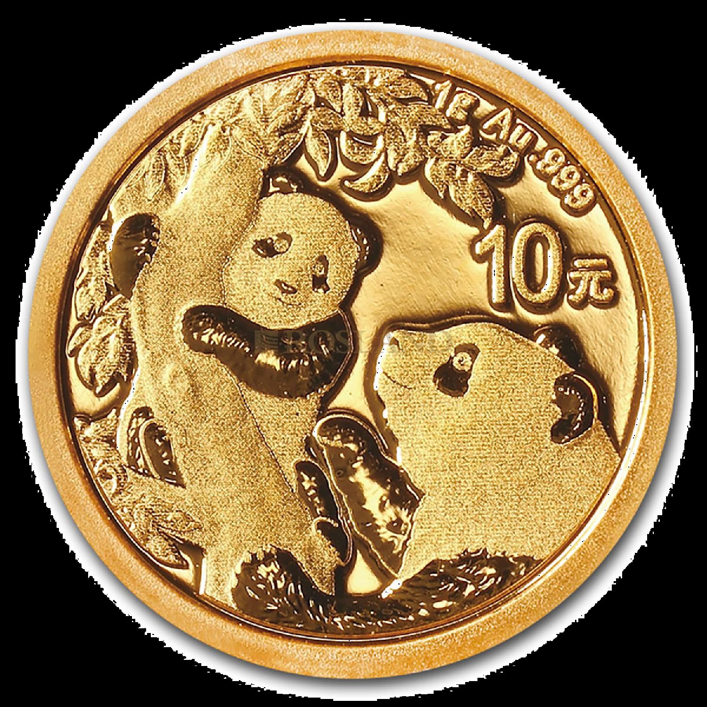 1 Gramm Goldmünze China Panda 2021