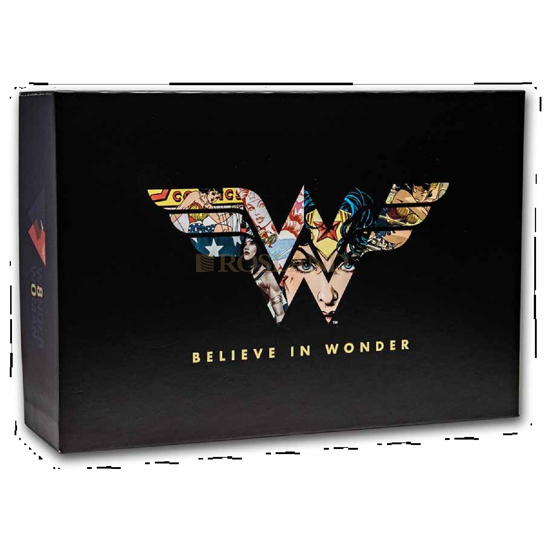 1 Unze Silbermünze DC Comics Wonderwoman 80 Jahre Jubiläum 2021 (PP, Koloriert, Box, Zertifikat)