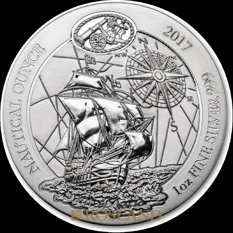 1 Unze Silbermünze Ruanda Nautical Santa Maria 2017
