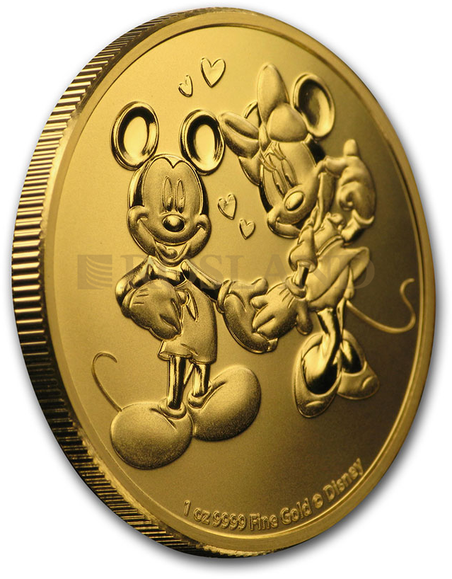 1 Unze Goldmünze Disney® Micky & Minnie Maus 2020 PCGS MS-69