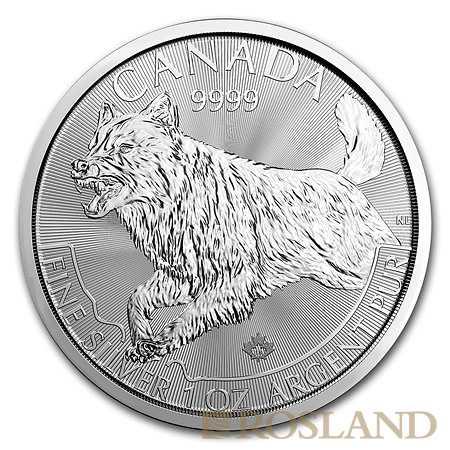 1 Unze Silbermünze Kanada Predator Wolf 2018