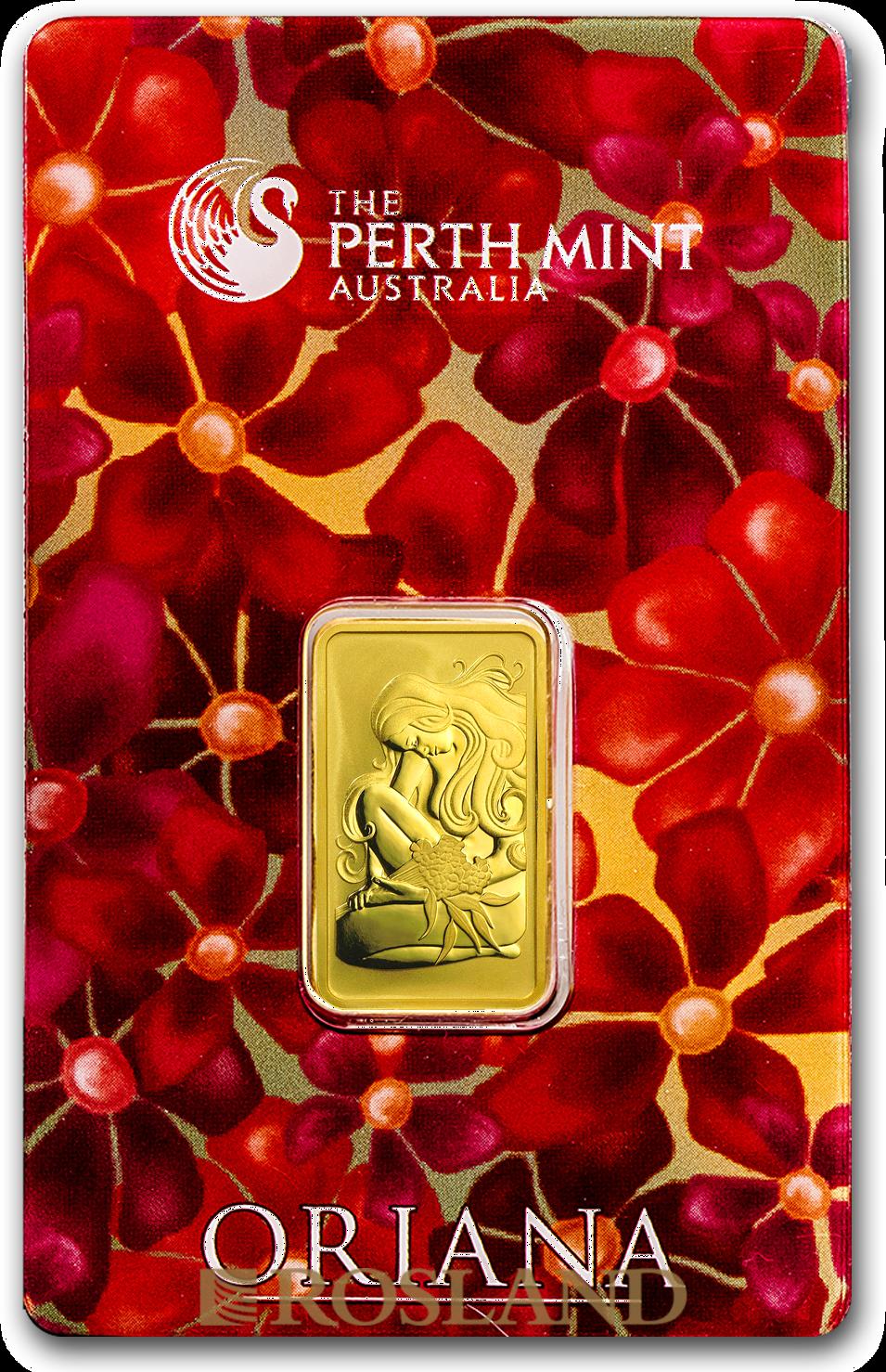 10 Gramm Goldbarren Perth Mint Oriana