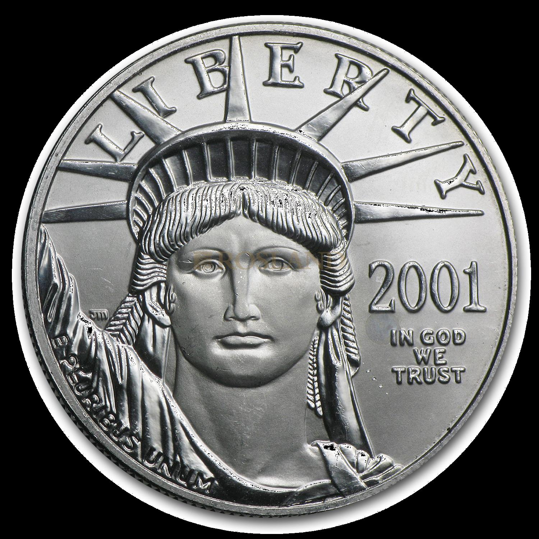 1 Unze Platinmünze American Eagle 2001