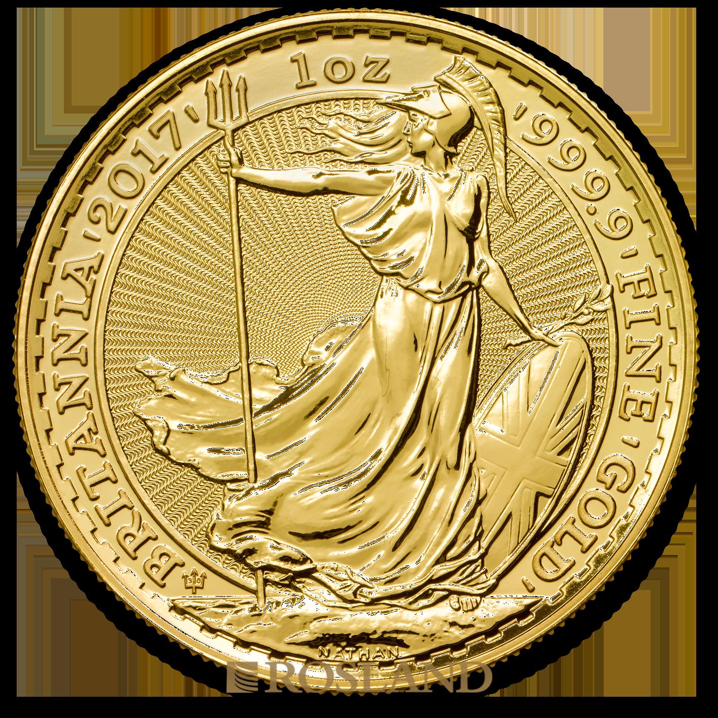 1 Unze Goldmünze Britannia 2017 - 30 Jahre Jubiläum