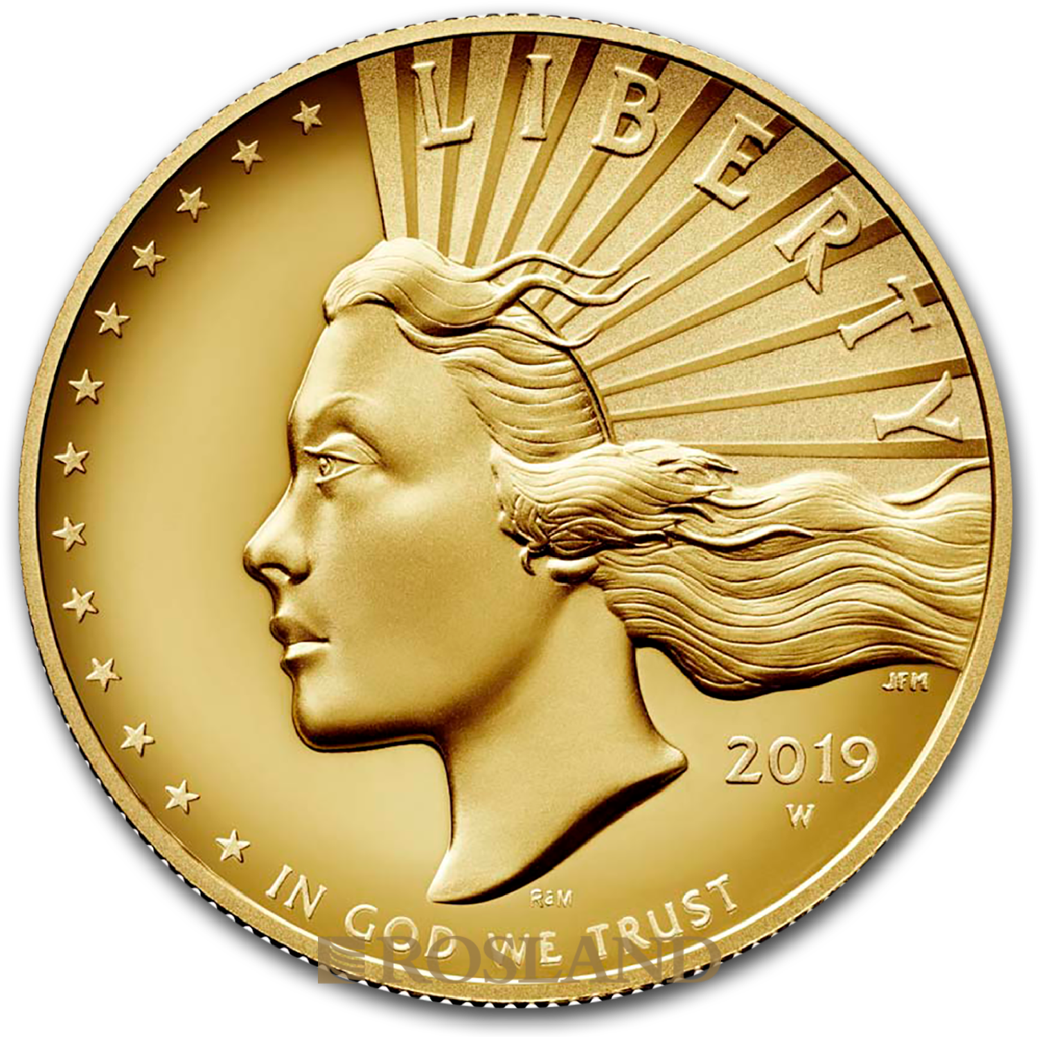 1 Unze Goldmünze American Liberty 2019 PL (HR, Box, Zertifikat)