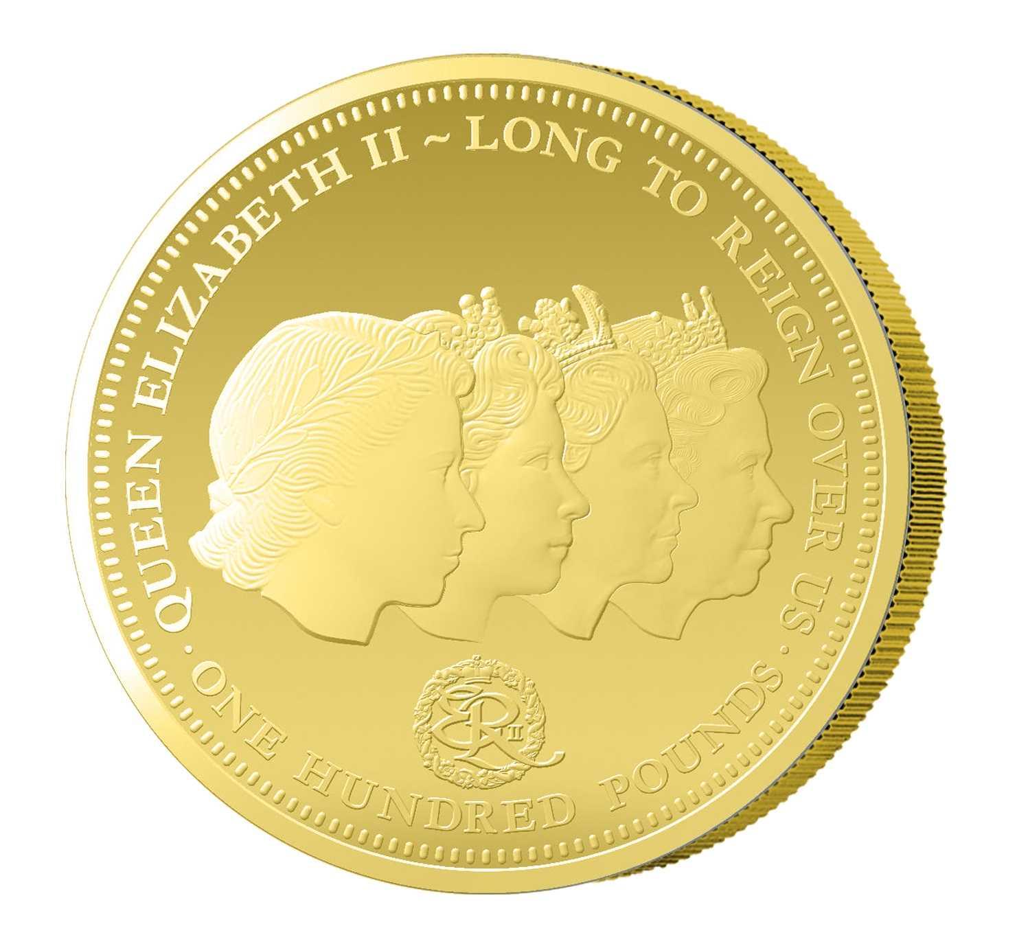 1 Unze Goldmünze Das Porträt der Königin 2016