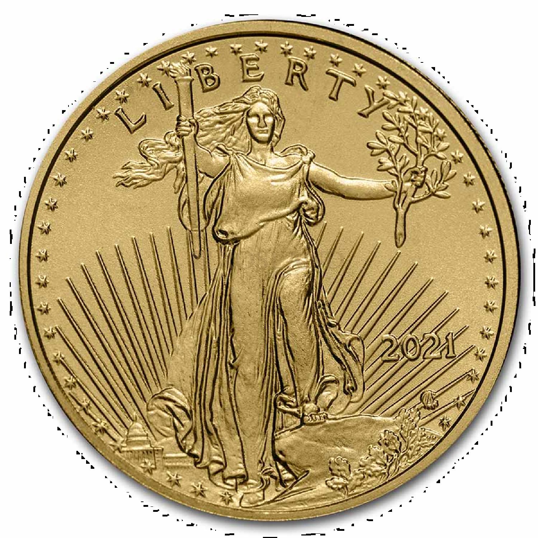 1/10 Unze Goldmünze American Eagle 2021 *Neues Design*