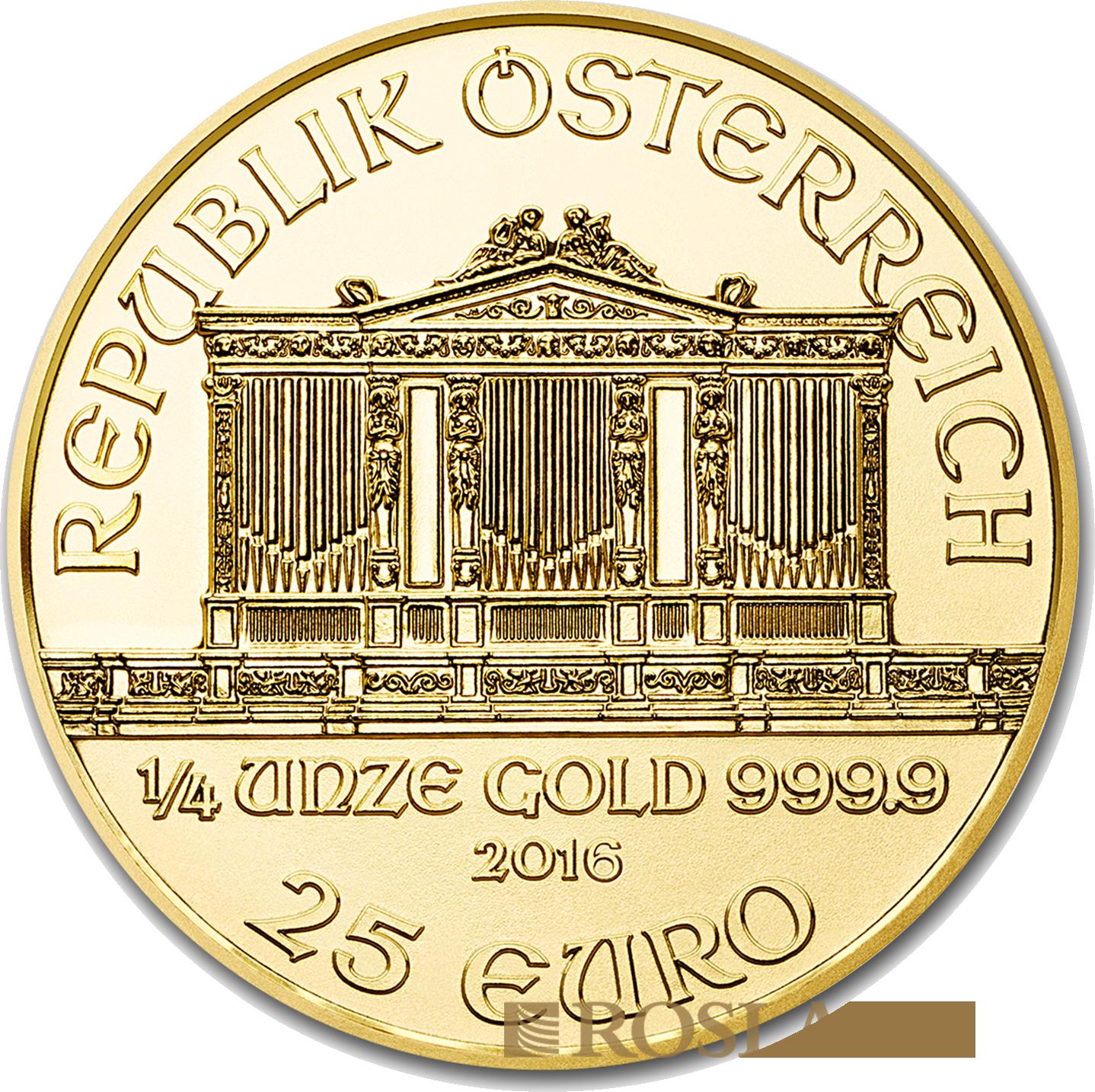 1/4 Unze Goldmünze Wiener Philharmoniker 2016
