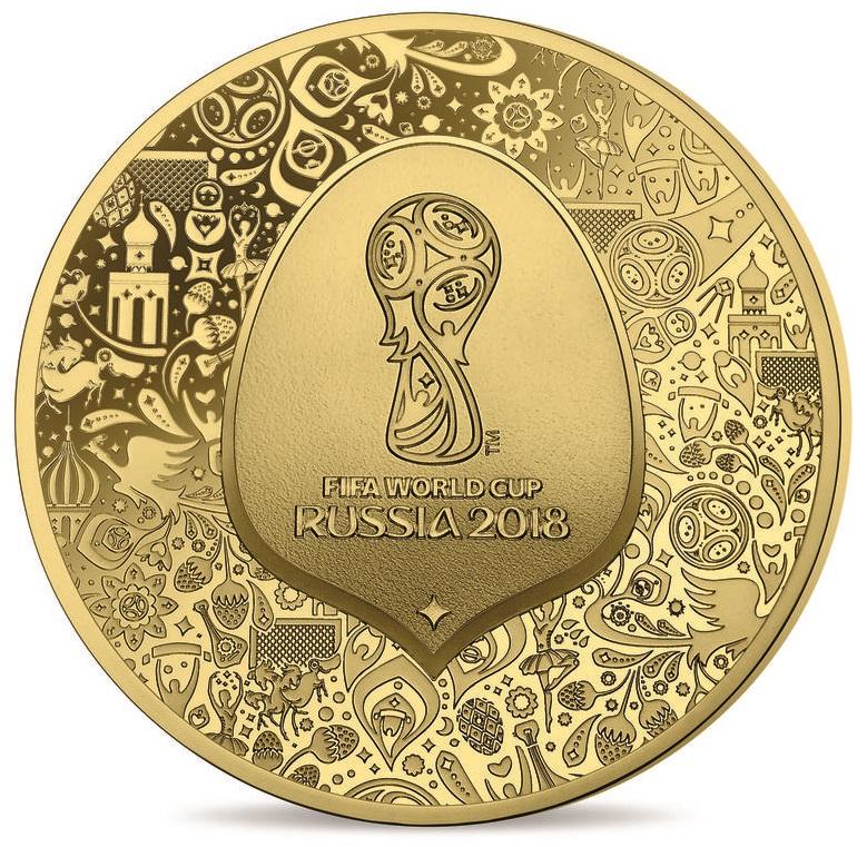 1/4 Unze Goldmünze FIFA Weltpokal 2018 50€