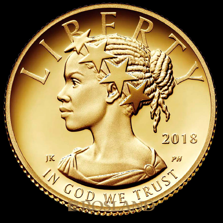 1/10 Unze Goldmünze American Liberty 2018 PL (HR, Box, Zertifikat)