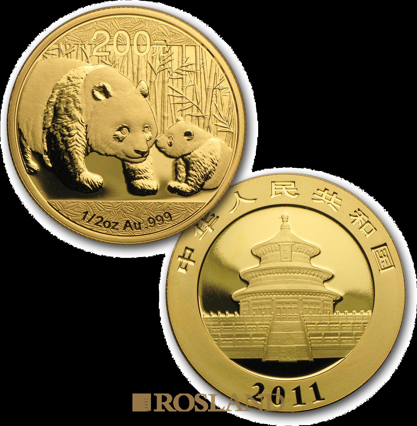 1,9 Unzen 5 Goldmünzen Set China Panda Hase 2011 (Box, Zertifikat)