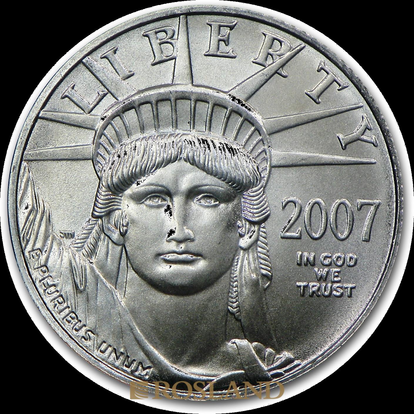 1/10 Unze Platinmünze American Eagle 2007