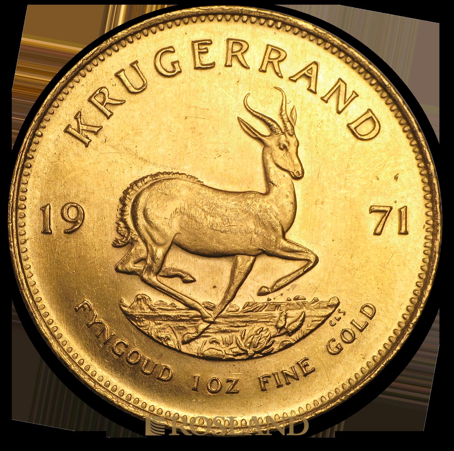 1 Unze Goldmünze Krügerrand 1971