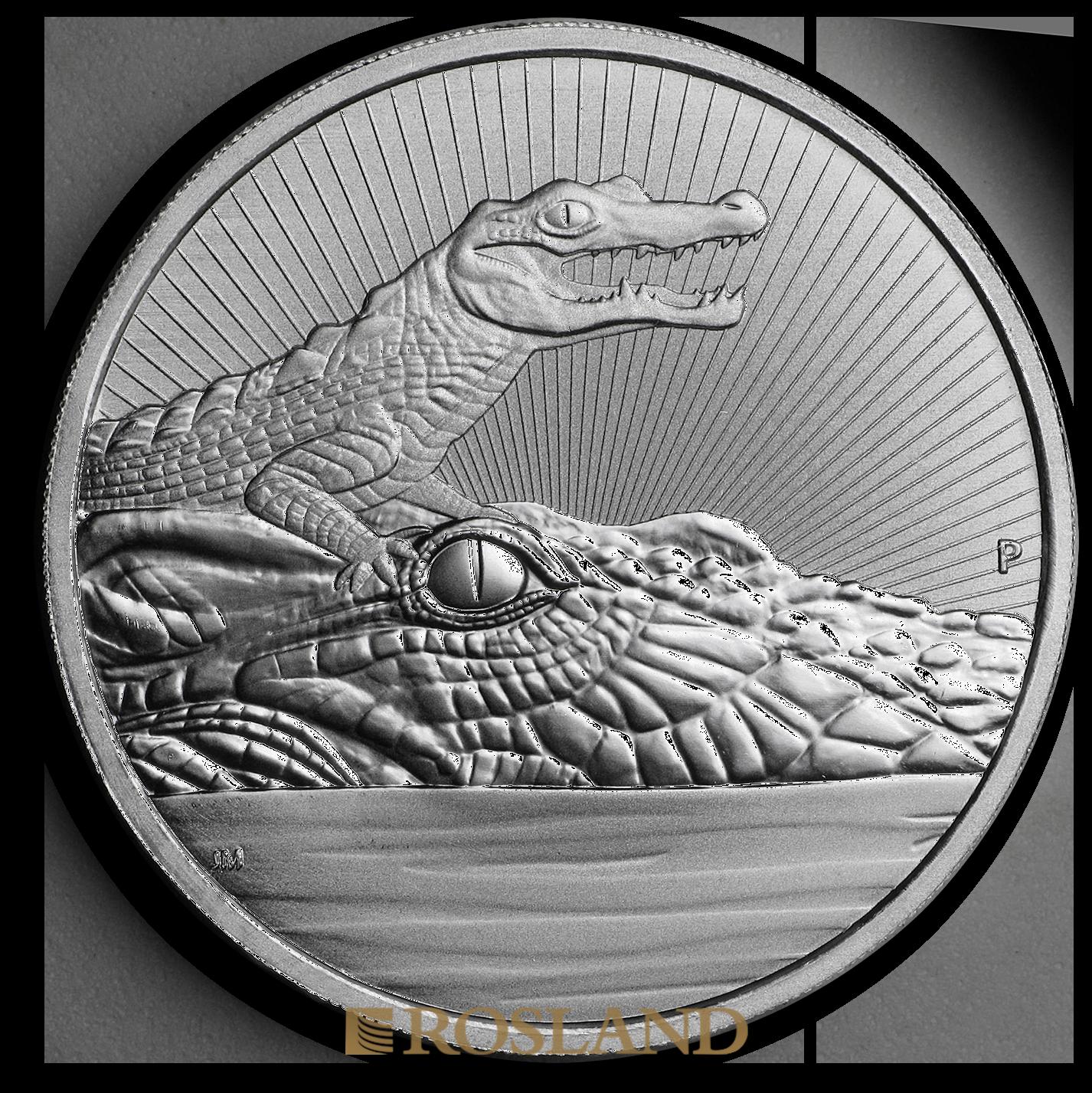 2 Unzen Silbermünze Perth Mint Krokodil 2019