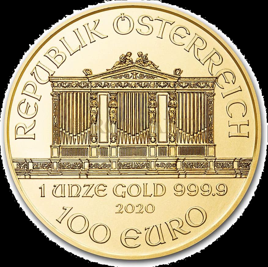 1 Unze Goldmünze Wiener Philharmoniker 2020