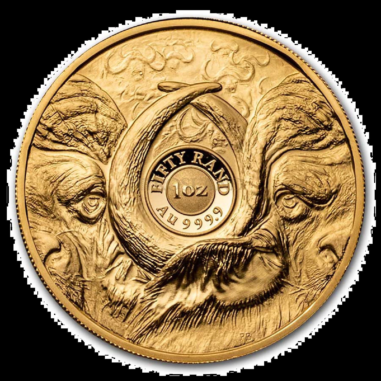 1 Unze Goldmünze Big Five Buffalo 2021 PP (Box, Zertifikat)