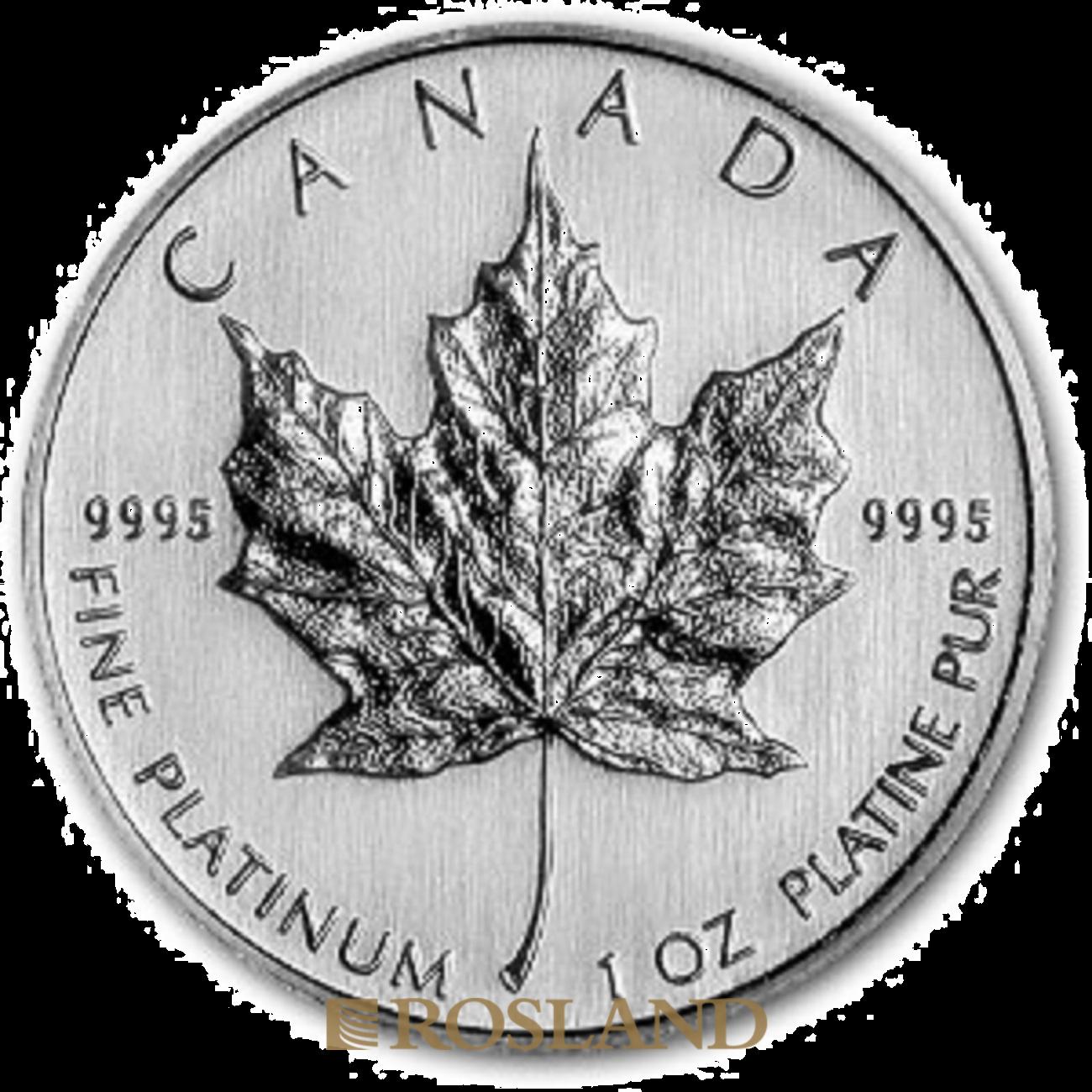 1 Unze Platinmünze Kanada Maple Leaf 2010