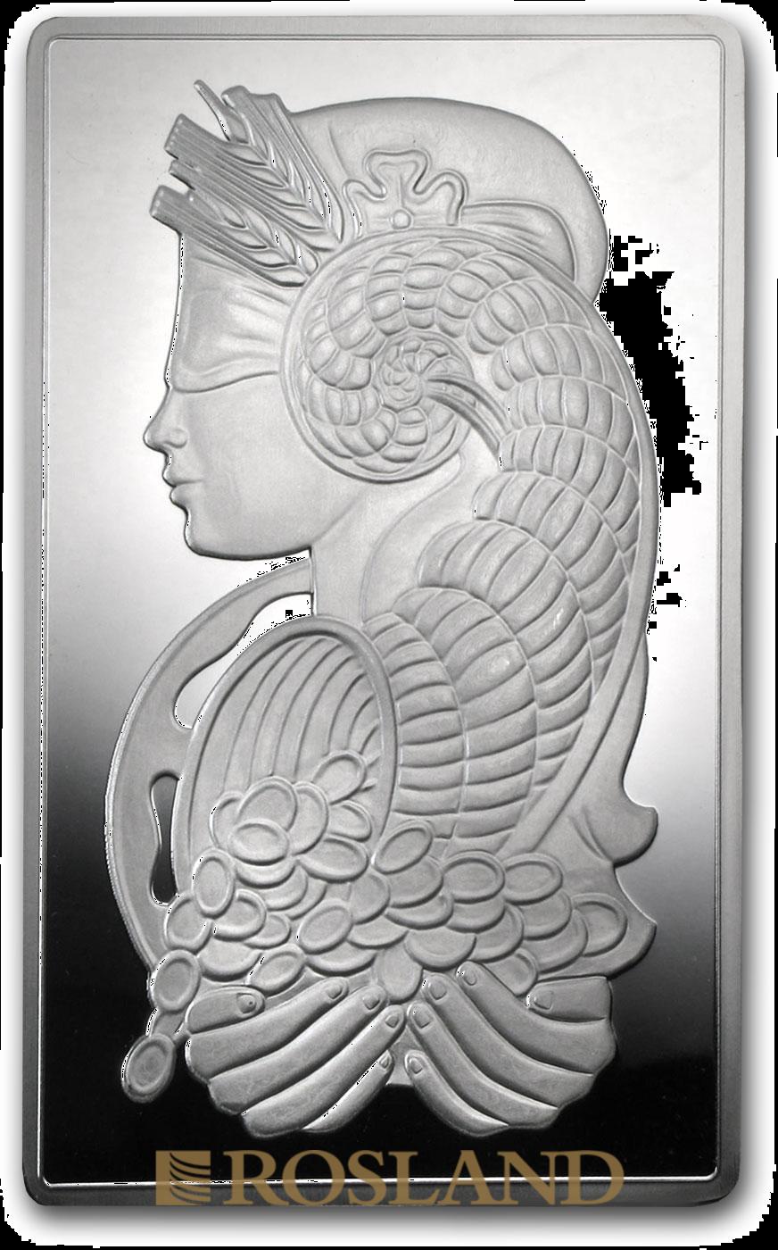 10 Unzen Silberbarren PAMP Lady Fortuna Veriscan®