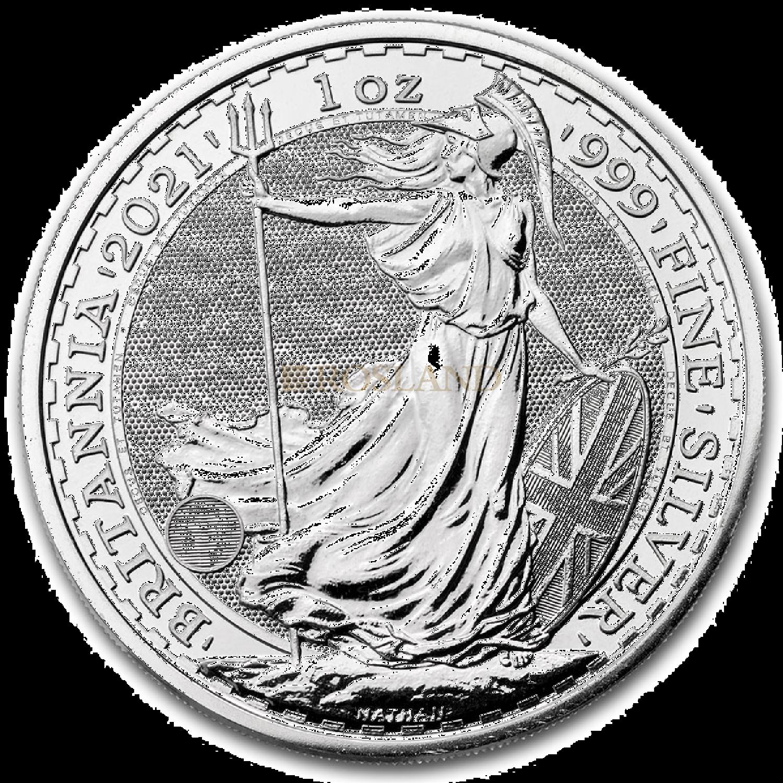 1 Unze Silbermünze Britannia 2021