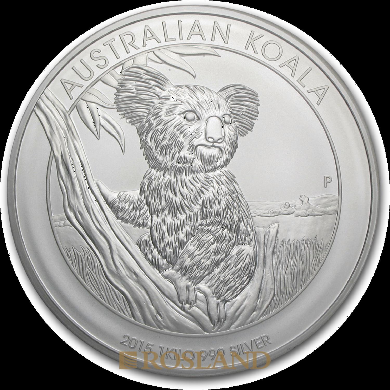 1 Kilogramm Silbermünze Koala 2015