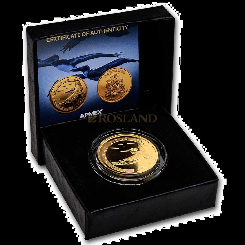 1 Unze Goldmünze Barbados Pelikan 2021 (Box, Zertifikat)