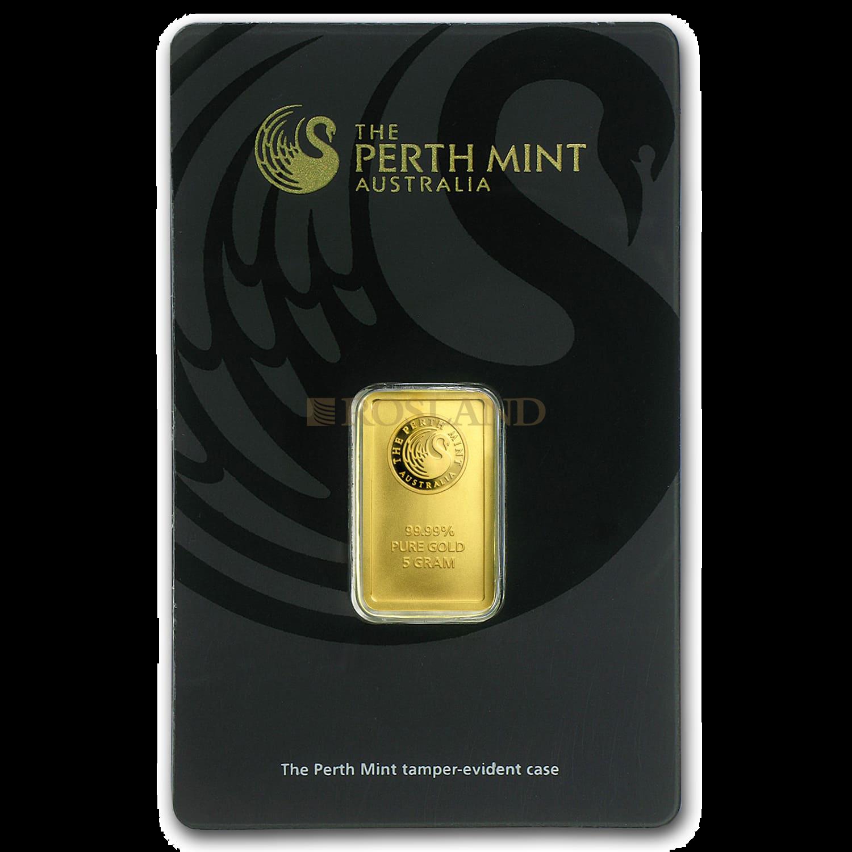 5 Gramm Goldbarren divers (Neuware, .9999 Gold)