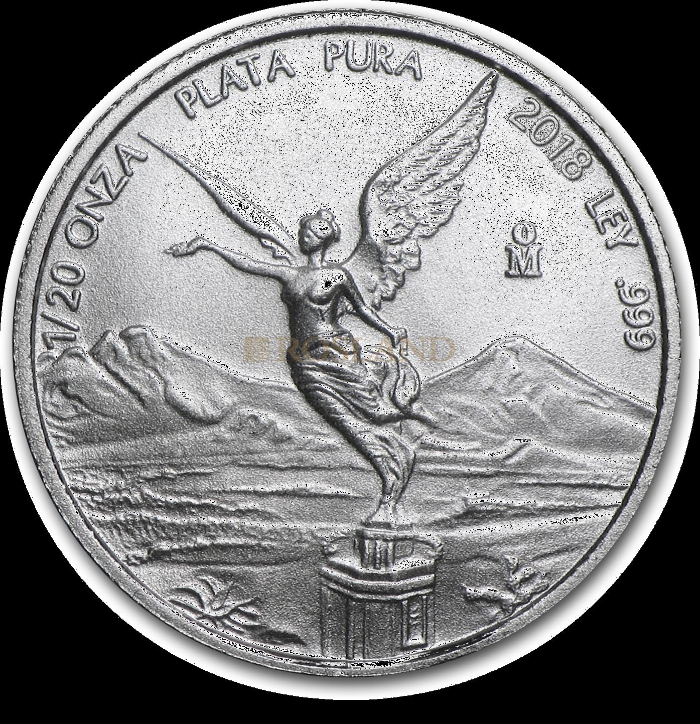 1/20 Unze Silbermünze Mexican Libertad 2018