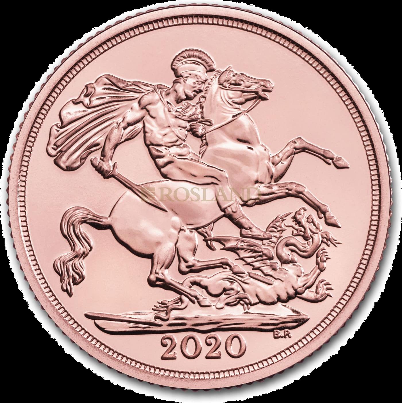 1 Sovereign Goldmünze Großbritannien 2020