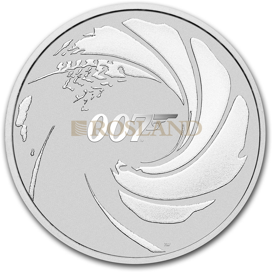 1 Unze Silbermünze 007 James Bond 2020