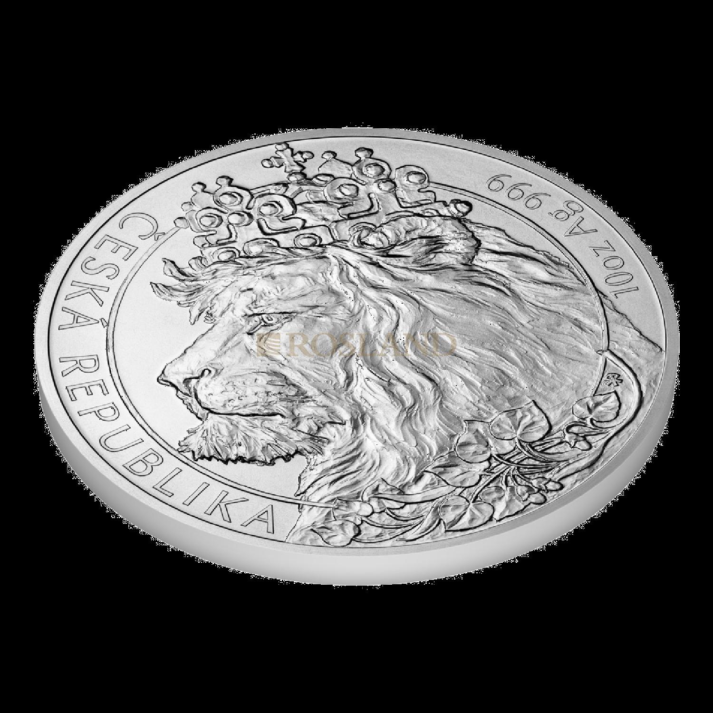 10 Unzen Silbermünze Tschechischer Löwe 2021