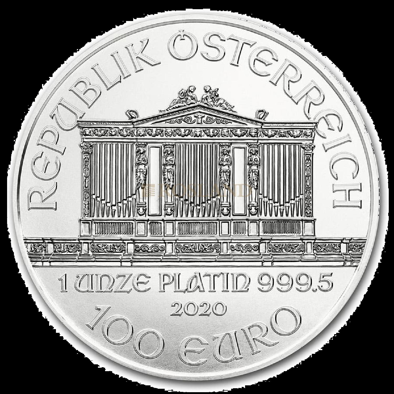 1 Unze Platinmünze Wiener Philharmoniker 2020