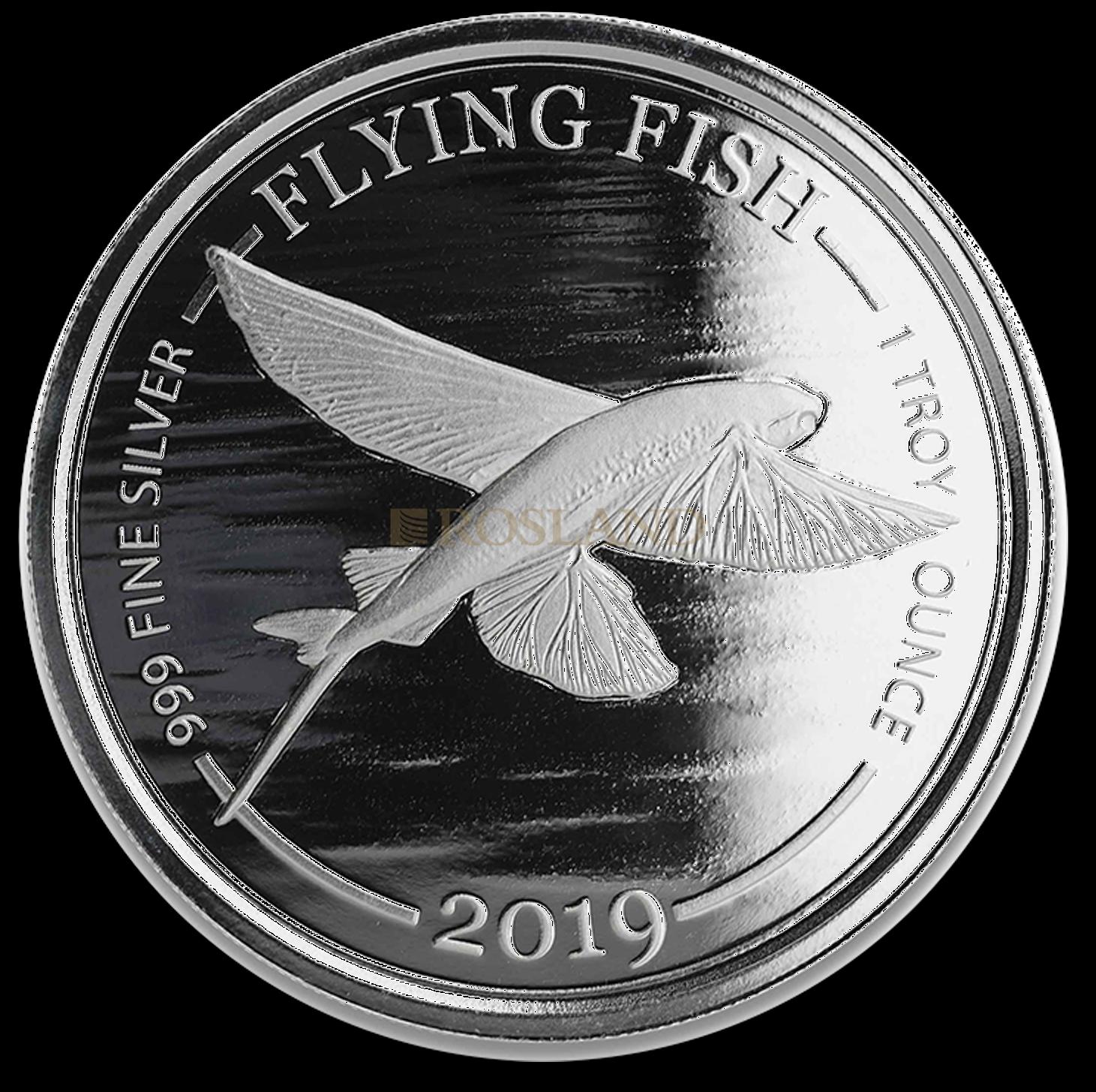 1 Unze Silbermünze Barbados Flying Fish 2019