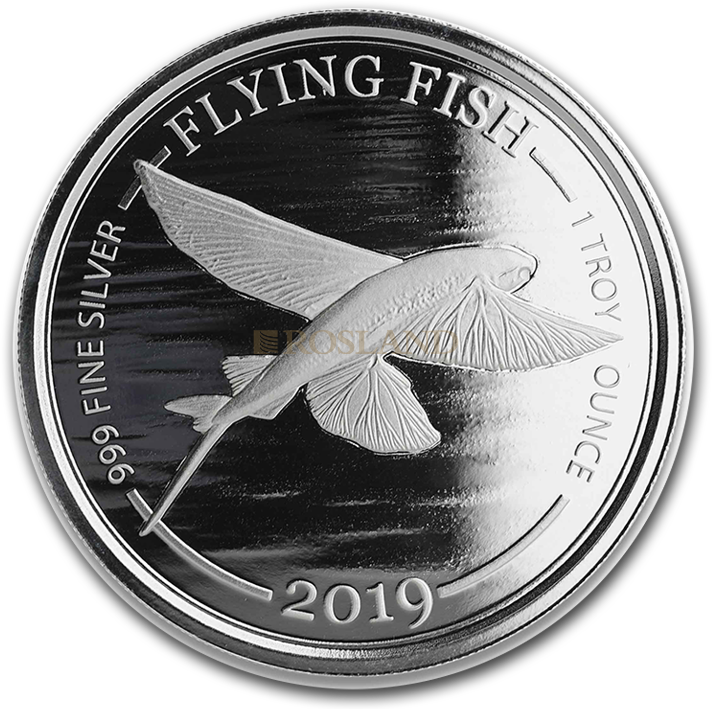 1 Unze Silbermünze Barbados Flying Fish 2019