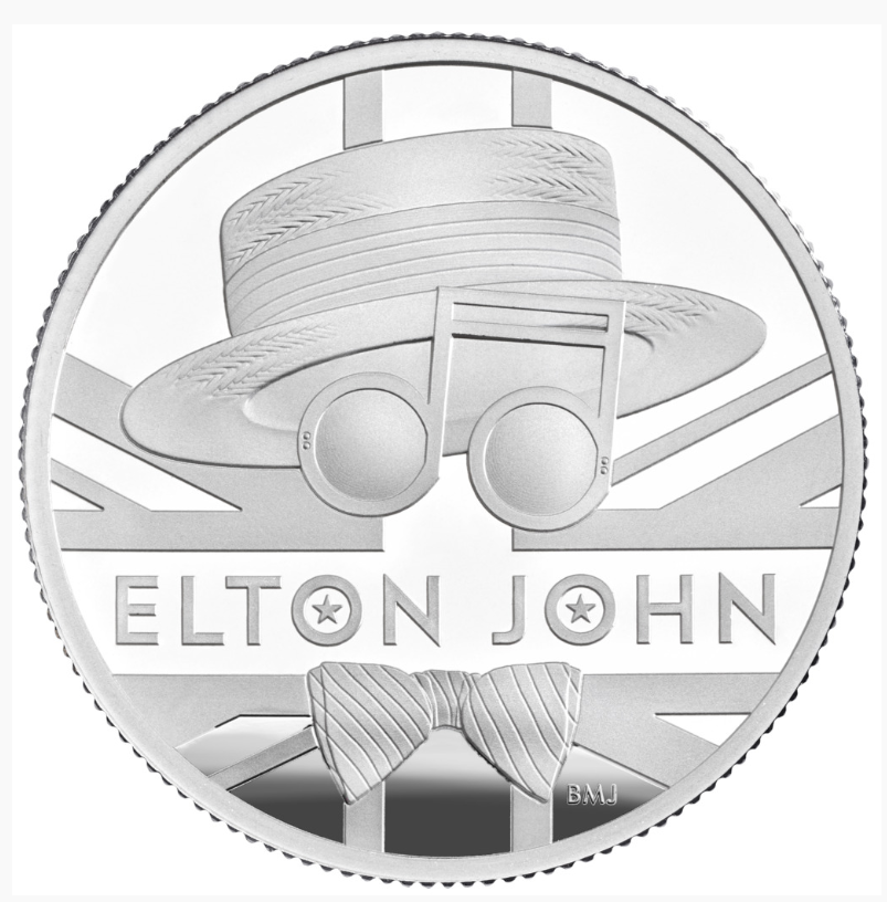 1/2 Unze Silbermünze GB Musiklegenden - Elton John 2020 PP (Box, Zertifikat)