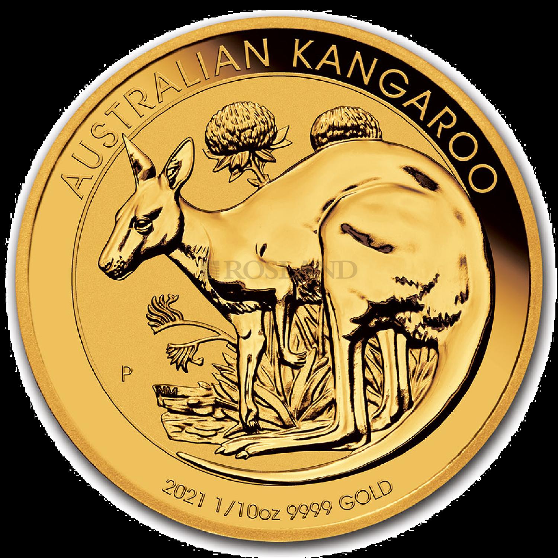 1/10 Unze Goldmünze Australien Känguru 2021