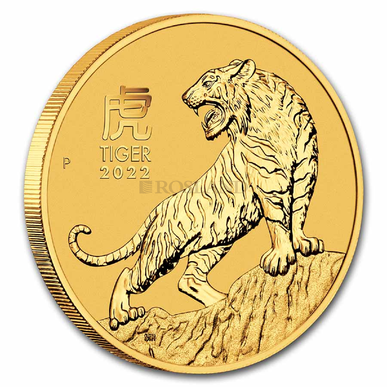2 Unzen Goldmünze Lunar 3 Tiger 2022
