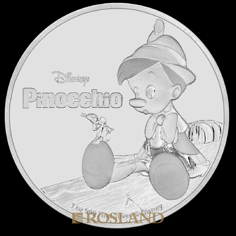 1 Unze Silbermünze Disney® Pinocchio 2018 PP (Box, Zertifikat)