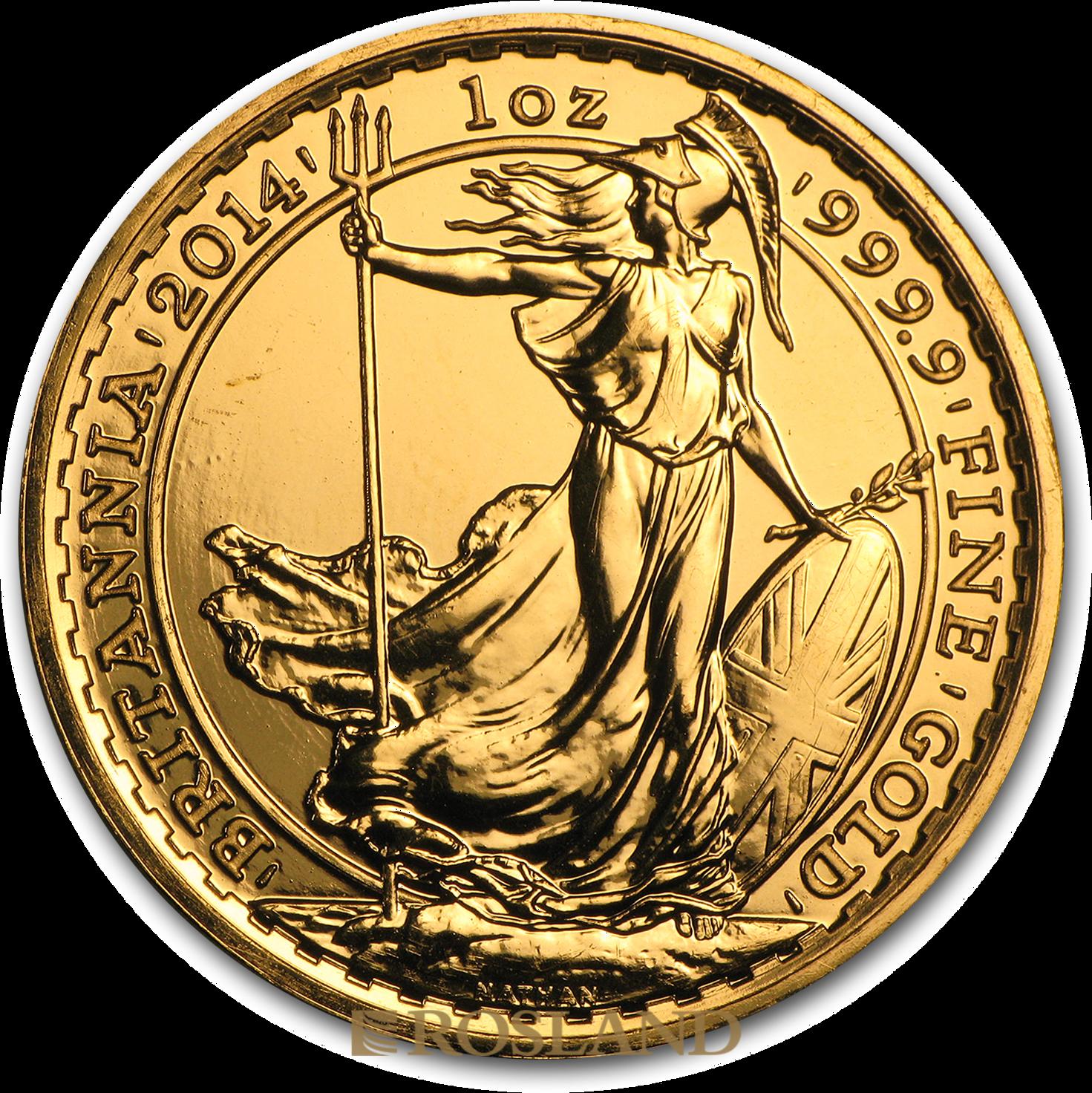 1 Unze Goldmünze Britannia 2014