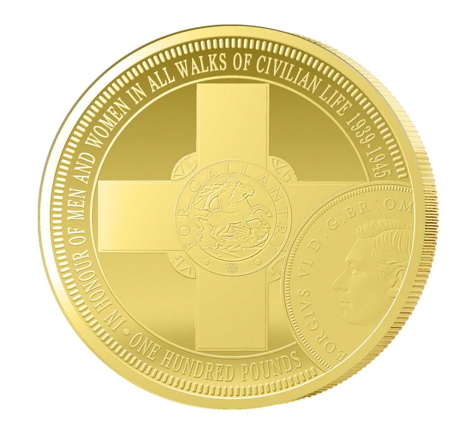 1 Unze Goldmünze Das St. Georgs-Kreuz 2014 PP PCGS PR-69