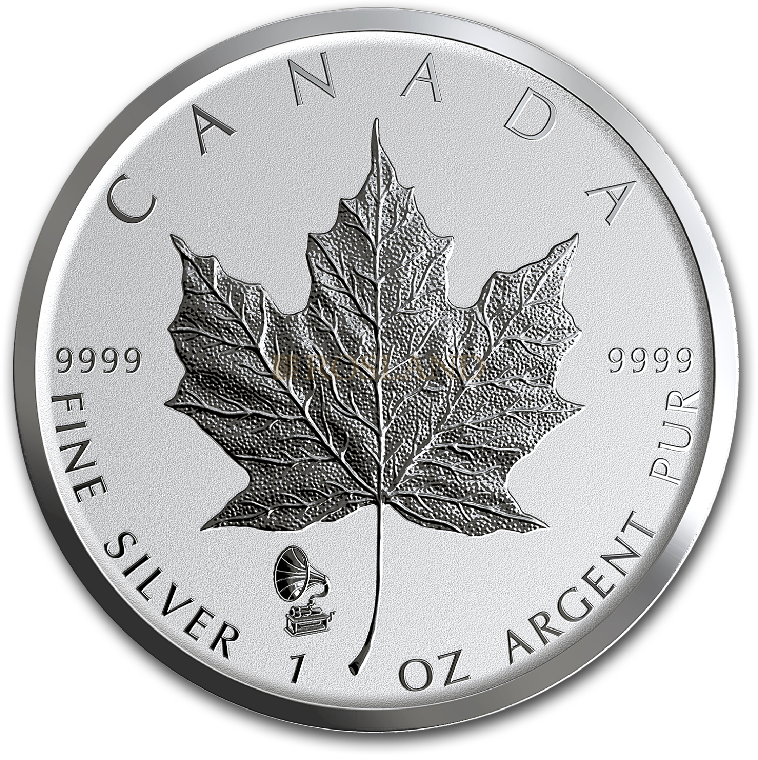 1 Unze Silbermünze Kanada Maple Leaf Edison Phonograph 2019